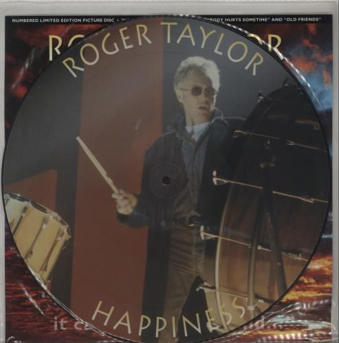 "Roger Taylor Happiness? 12"" vinyl picture disc 12inch picture disc record UK ROG2PHA37377"