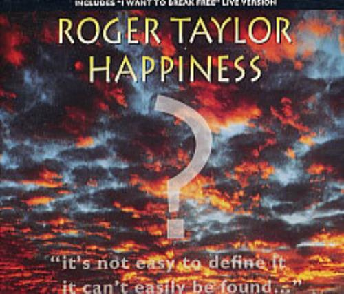 "Roger Taylor Happiness? CD single (CD5 / 5"") UK ROGC5HA37382"