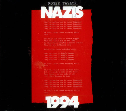 "Roger Taylor Nazis 1994 CD single (CD5 / 5"") UK ROGC5NA28417"