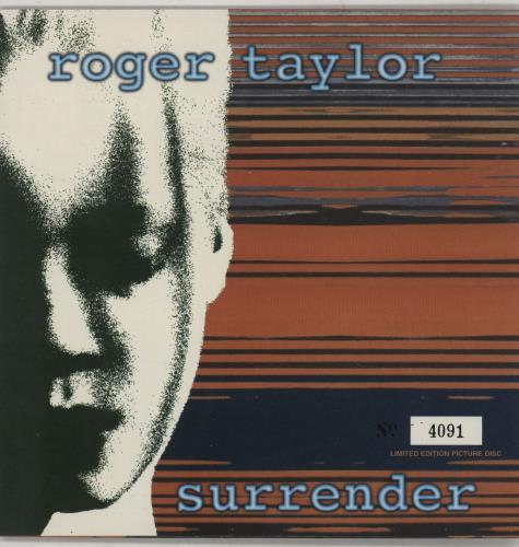 "Roger Taylor Surrender 7"" vinyl picture disc 7 inch picture disc single UK ROG7PSU133448"