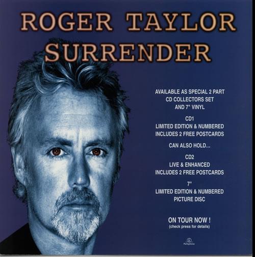 Roger Taylor Surrender display UK ROGDISU632134