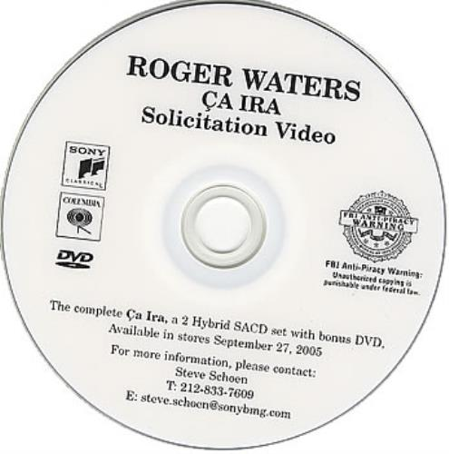 Roger Waters Ca Ira - Solicitation Video promo DVD-R US RWADRCA379754