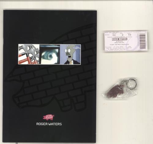 Roger Waters In The Flesh + ticket & Keyring tour programme UK RWATRIN721462