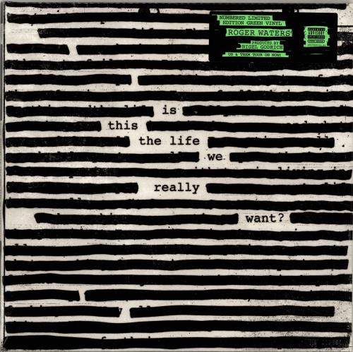 Roger Waters Is This The Life We Really Want? - Green Vinyl + Numbered Sleeve - Sealed 2-LP vinyl record set (Double Album) UK RWA2LIS699551