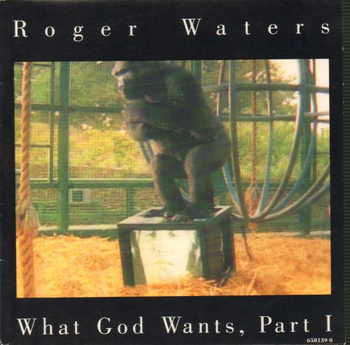 """Roger Waters What God Wants 7"""" vinyl single (7 inch record) UK RWA07WH47618"""