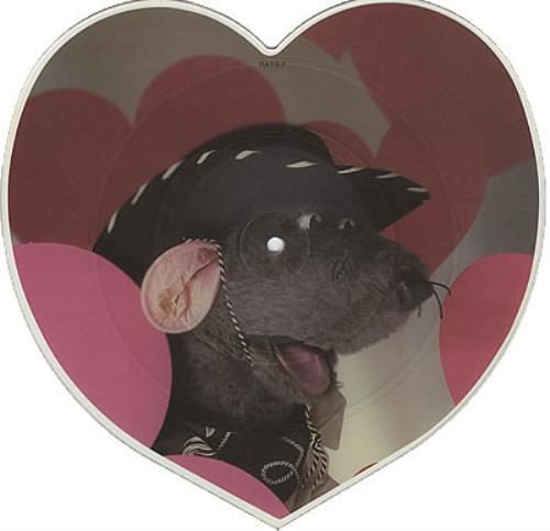Roland Rat Love Me Tender shaped picture disc (picture disc vinyl record) UK RRTSHLO373885