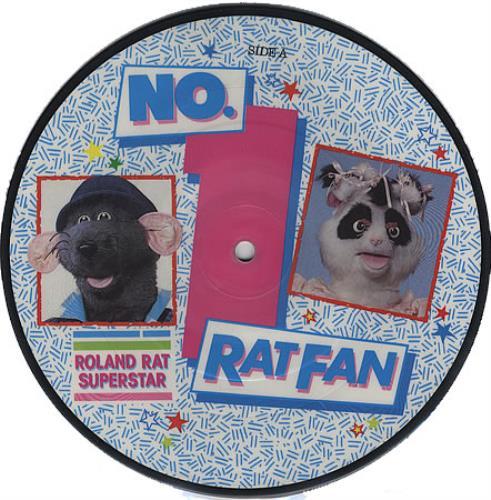 """Roland Rat No. 1 Ratfan 7"""" vinyl picture disc 7 inch picture disc single UK RRT7PNO365848"""