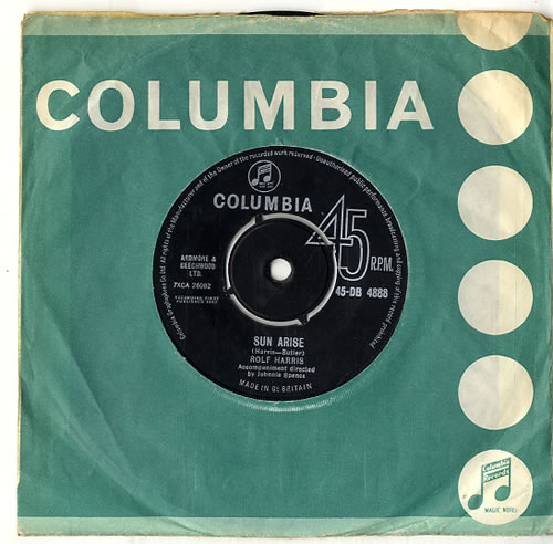 "Rolf Harris Sun Arise - 2nd 7"" vinyl single (7 inch record) UK RLF07SU620772"