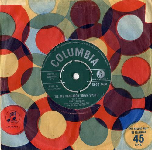 "Rolf Harris Tie Me Kangaroo Down Sport 7"" vinyl single (7 inch record) UK RLF07TI563082"
