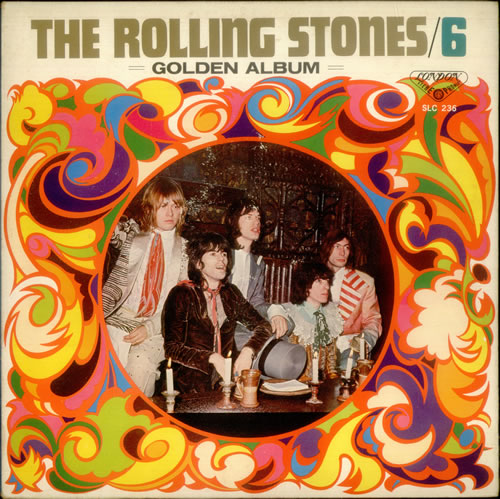 Rolling Stones 6 Golden Album Poster Japanese Vinyl Lp
