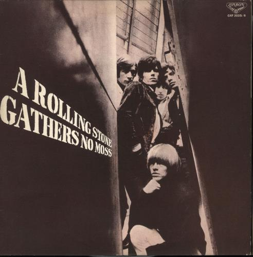 Rolling Stones A Rolling Stone Gathers No Moss 2-LP vinyl record set (Double Album) Japanese ROL2LAR716061