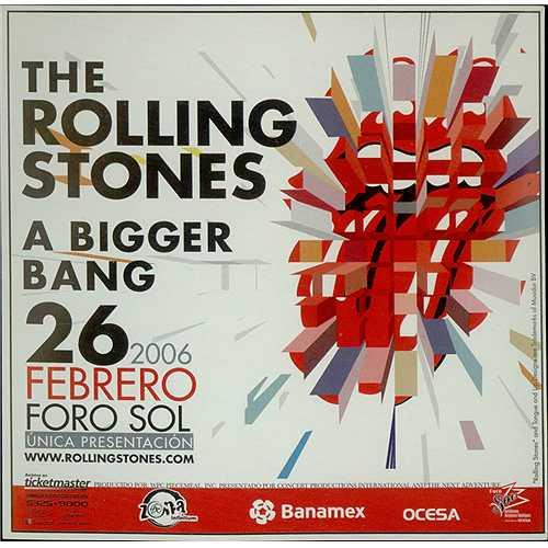 Rolling Stones A Bigger Bang Mexican Promo Memorabilia
