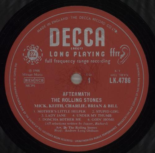Rolling Stones Aftermath - 1st [2nd variant] - VG vinyl LP album (LP record) UK ROLLPAF580584