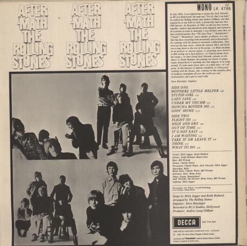 Rolling Stones Aftermath 6th Ex Uk Vinyl Lp Album Lp