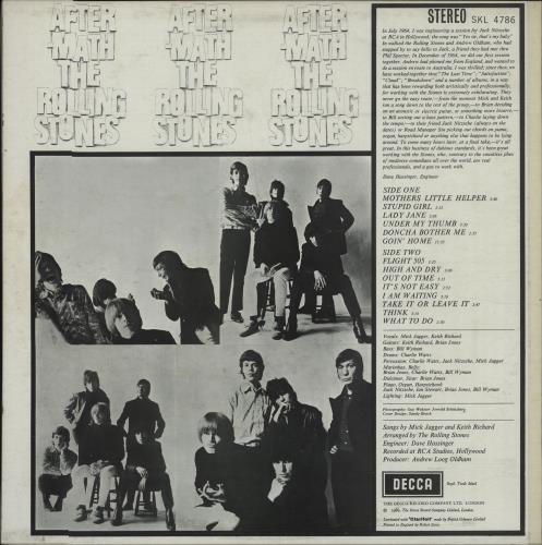 Rolling Stones Aftermath - Boxed - 2nd Variant - EX vinyl LP album (LP record) UK ROLLPAF675730