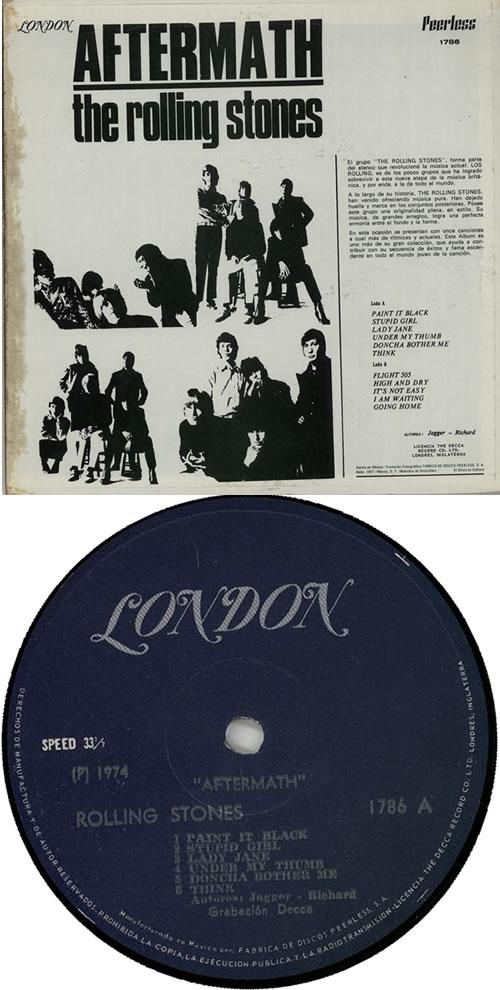Rolling Stones Aftermath Mexican vinyl LP album (LP record) (248791)