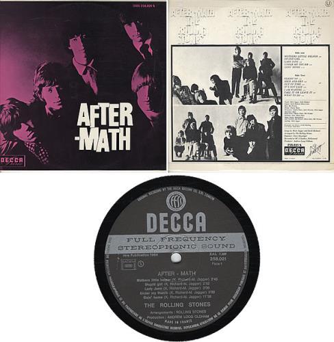 Rolling Stones Aftermath vinyl LP album (LP record) French ROLLPAF339804