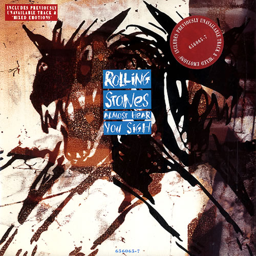 "Rolling Stones Almost Hear You Sigh 7"" vinyl single (7 inch record) UK ROL07AL23839"