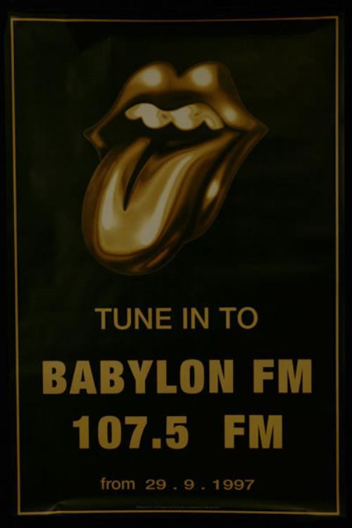 Rolling Stones Babylon FM - Withdrawn Poster poster UK ROLPOBA309709