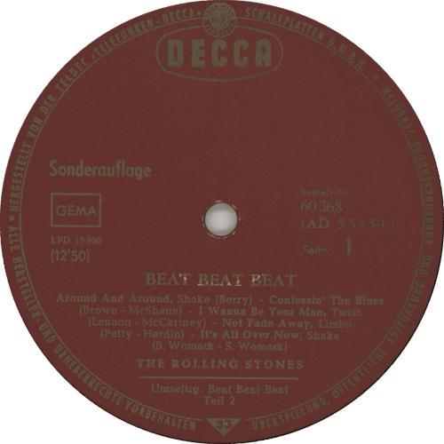 "Rolling Stones Beat Beat Beat - VG+ 10"" vinyl single (10"" record) German ROL10BE662383"