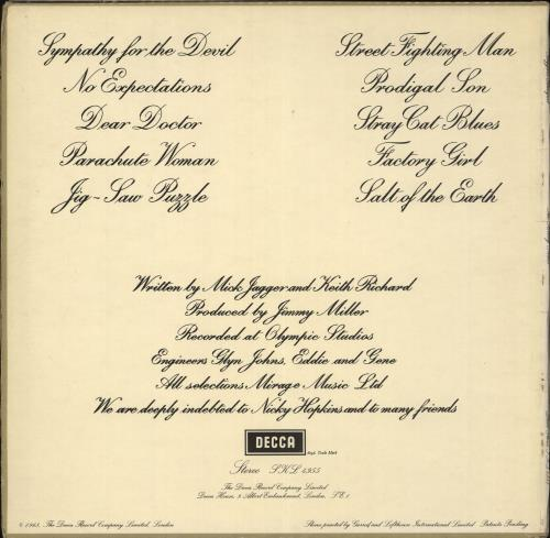 Rolling Stones Beggars Banquet - 1st (2nd variant) - VG vinyl LP album (LP record) UK ROLLPBE713278