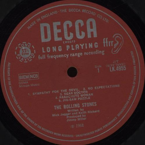 Rolling Stones Beggars Banquet - 2nd [b] - EX vinyl LP album (LP record) UK ROLLPBE652419