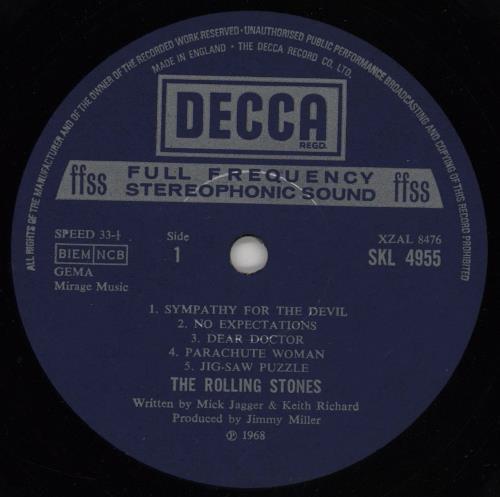 Rolling Stones Beggars Banquet - 3rd (1st Label Variant) vinyl LP album (LP record) UK ROLLPBE757191