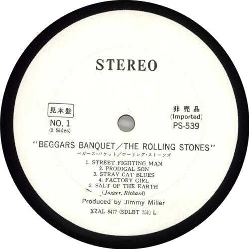 Rolling Stones Beggars Banquet vinyl LP album (LP record) Japanese ROLLPBE708930