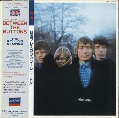 Rolling Stones Between The Buttons - Blue Vinyl vinyl LP album (LP record) Japanese ROLLPBE123434