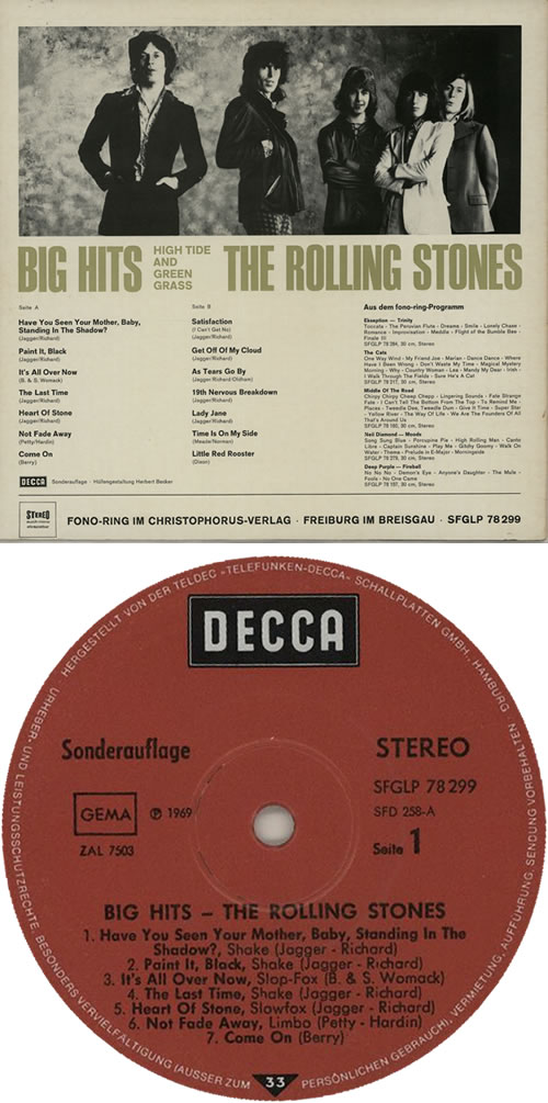 Rolling Stones Big Hits High Tide And Green Grass German