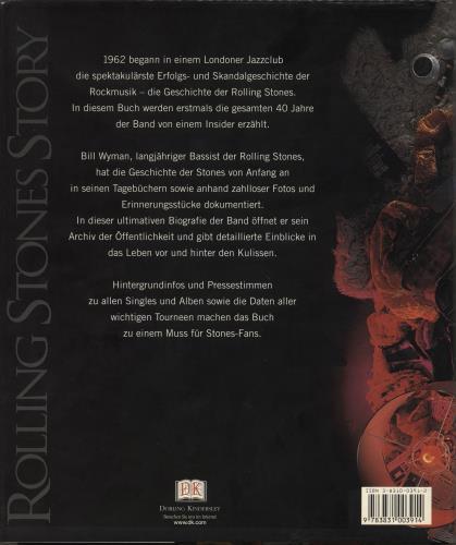 Rolling Stones Bill Wyman's Rolling Stones Story book German ROLBKBI711196