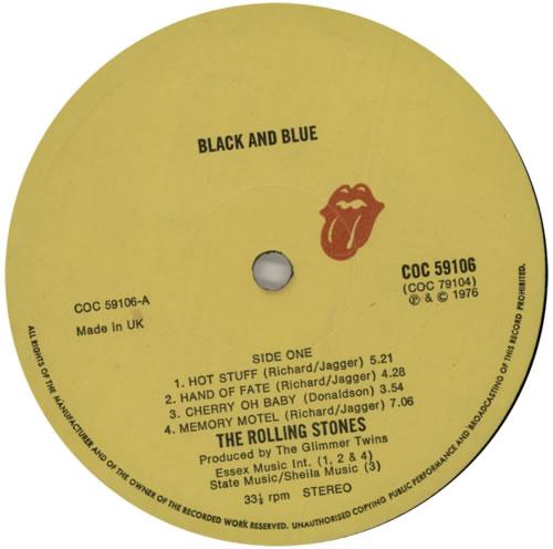 Rolling Stones Black And Blue - 1st vinyl LP album (LP record) UK ROLLPBL591447