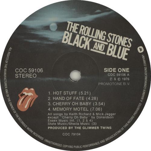 Rolling Stones Black And Blue - picture label vinyl LP album (LP record) UK ROLLPBL630758