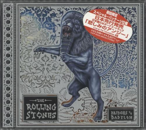 Rolling Stones Bridges To Babylon - Slipcase + Obi stickered bag CD album (CDLP) Japanese ROLCDBR710961