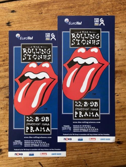 Rolling Stones Bridges To Babylon Tour Flyers 1998 - Pair Of handbill Czech ROLHBBR610814