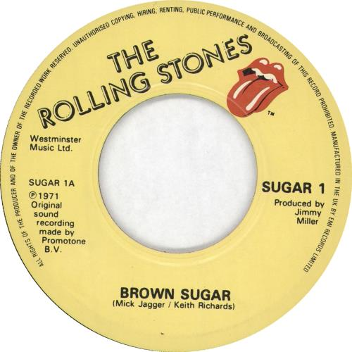 "Rolling Stones Brown Sugar 7"" vinyl single (7 inch record) UK ROL07BR715661"