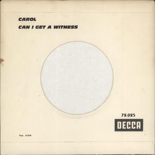 "Rolling Stones Carol 7"" vinyl single (7 inch record) French ROL07CA777103"