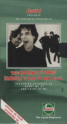 Rolling Stones Castrol Presents...- Sealed video (VHS or PAL or NTSC) UK ROLVICA121690