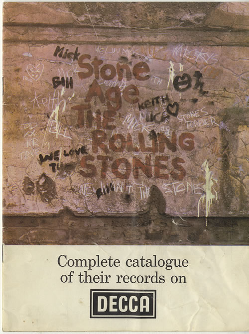 Rolling Stones Complete Catalogue Of Their Records On Decca