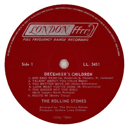 Rolling Stones December S Children And Everybody S