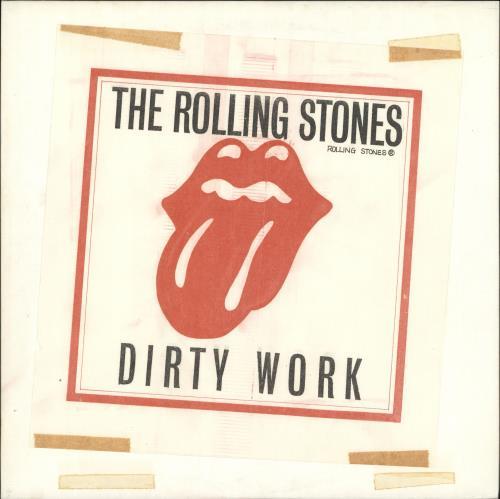 Rolling Stones Dirty Work - White Label vinyl LP album (LP record) Japanese ROLLPDI516766