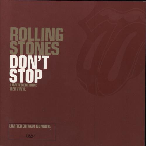 "Rolling Stones Don't Stop - Red Vinyl 7"" vinyl single (7 inch record) UK ROL07DO229120"