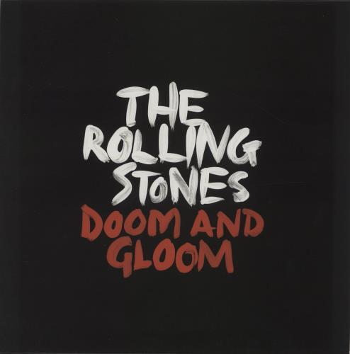 "Rolling Stones Doom And Gloom 10"" vinyl single (10"" record) UK ROL10DO680744"