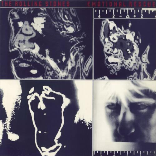 Rolling Stones Emotional Rescue + Poster vinyl LP album (LP record) UK ROLLPEM62325