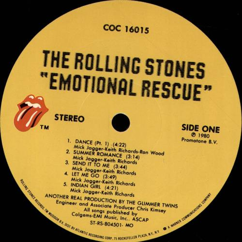 Rolling Stones Emotional Rescue + Poster vinyl LP album (LP record) US ROLLPEM701857