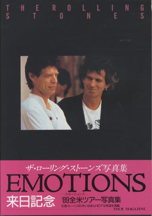 Rolling Stones Emotions book Japanese ROLBKEM136621