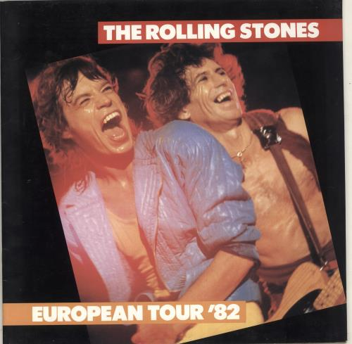 Rolling Stones European Tour '82 + Sticker tour programme UK ROLTREU713010