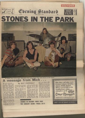 Rolling Stones Evening Standard Souvenir Friday July 4 1969 magazine UK ROLMAEV694458