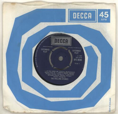 """Rolling Stones Five By Five - Boxed Logo 7"""" vinyl single (7 inch record) UK ROL07FI714324"""