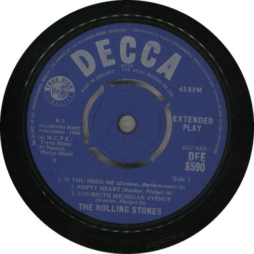 """Rolling Stones Five By Five EP - 1st - VG 7"""" vinyl single (7 inch record) UK ROL07FI565823"""